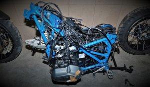 zatrzymany motocykl